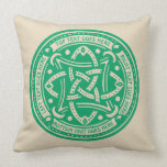 Create Your Own Celtic Knot Shamrock Green Irish Throw Pillow