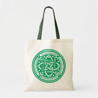 Create Your Own Celtic Knot Shamrock Green Irish Tote Bag