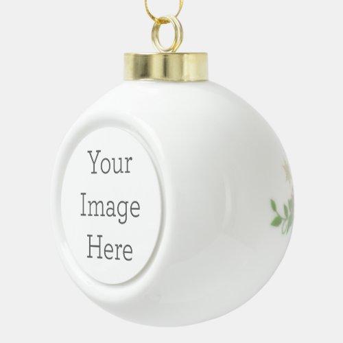 Create Your Own Ceramic Ball Ornament Poinsettia