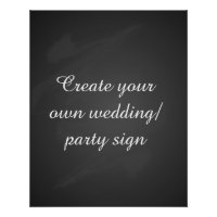 Create your own chalkboard party sign