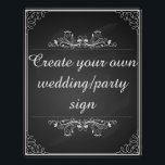 "Create your own chalkboard wedding sign<br><div class=""desc"">Chalkboard wedding sign Create your own sign for your party or wedding</div>"