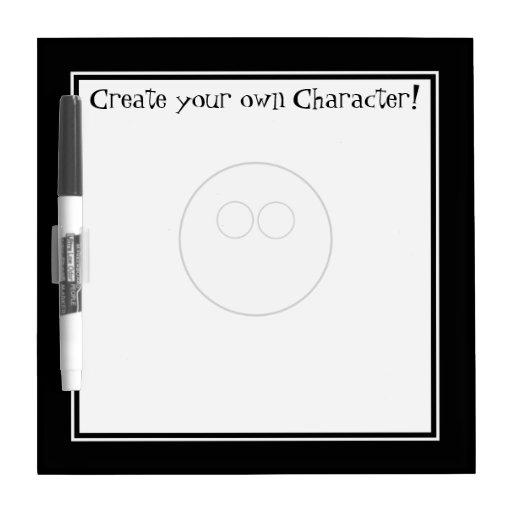 Create your own Character - Dry-Erase Board