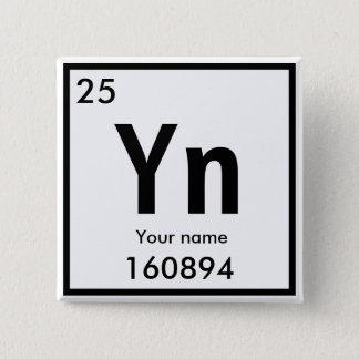 Create your own chemical element Square Button