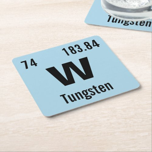 Create Your Own Chemistry Element Square Paper Coaster