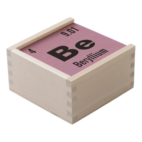 Create Your Own Chemistry Element Wooden Keepsake Box