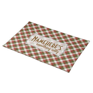 Create Your Own Christmas Gingham Holiday Placemat