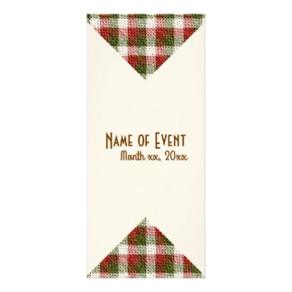 Create Your Own Christmas Gingham Holiday Rack Card