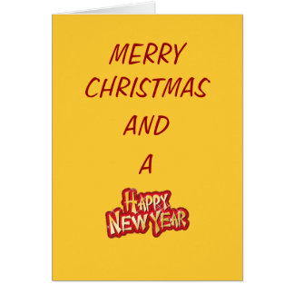 CREATE YOUR OWN CHRISTMAS = NEW YEAR CARD PERSONAL