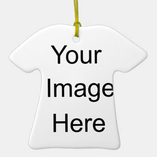Create Your Own Christmas Double-Sided T-Shirt Ceramic Christmas Ornament