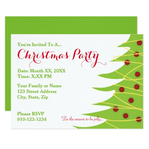 create your own christmas party invitation
