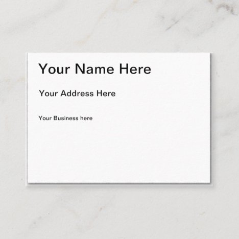 Create Your Own Chubby Business Card