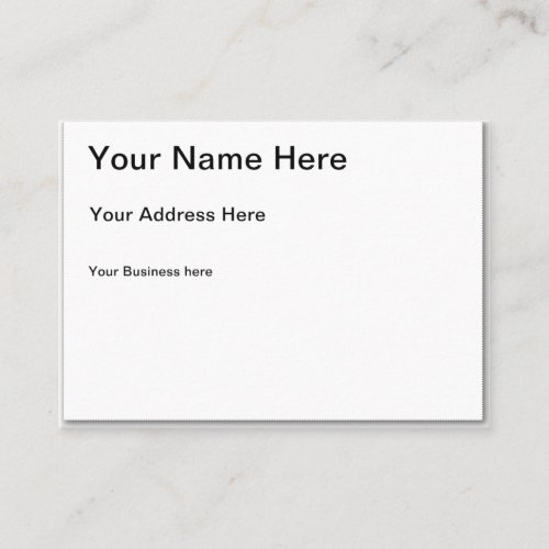 Create Your Own Chubby Business Card