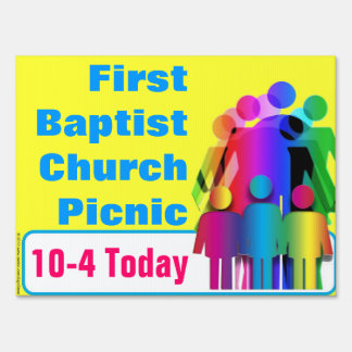 Create Your Own Church Happening Related Yard Sign
