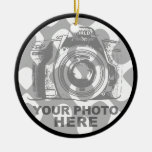 Create Your Own Circle Ornament Horizontal Photo