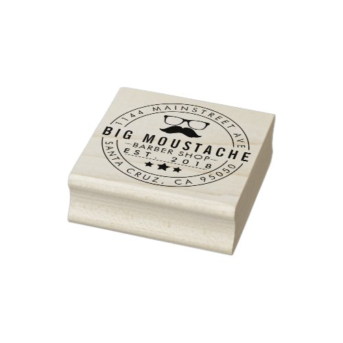 Create Your Own Circular Barbering Business Logo Rubber Stamp