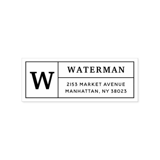 Design Your Own Rubber Stamp: Create Your Own Classic Monogram Return Address Rubber