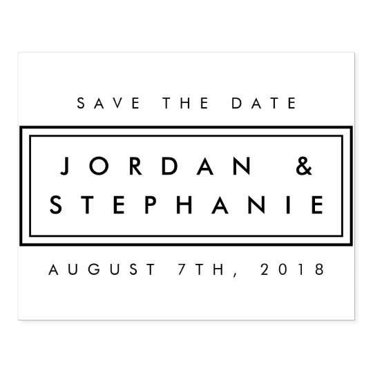 Cute let love grow   wedding hearts save the date self-inking.