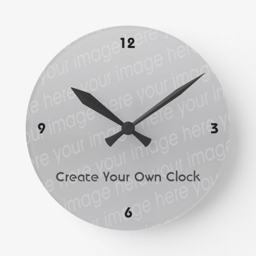 Create Your Own Clock Style 4 Zazzle