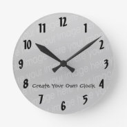 Create Your Own Clock - Style 5 at Zazzle