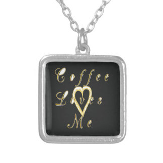 Create Your Own Coffee love me. Silver Plated Necklace