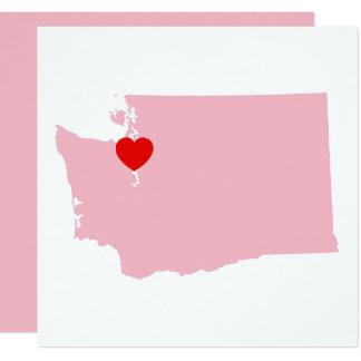 Create Your Own Color Washington Wedding Card