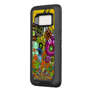 Create your own Colorful Beautiful infinity floral OtterBox Defender Samsung Galaxy S8 Case
