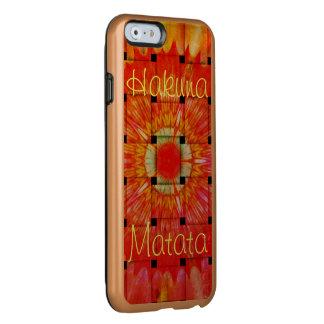 Create Your Own Colorful Hakuna Matata cute pretty Incipio Feather Shine iPhone 6 Case