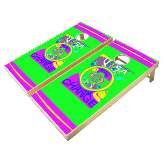 Create Your Own Colorful USA Change cute pretty Cornhole Set