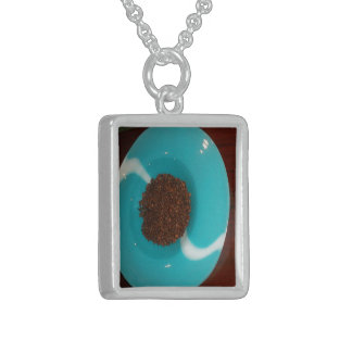 Create Your Own Colorful Water colors art design Sterling Silver Necklace
