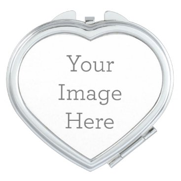 Valentines Themed Create Your Own Compact Mirror - Heart