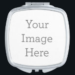 "Create Your Own Compact Mirror - Square<br><div class=""desc"">Personalize your own custom compact mirror on Zazzle. Add your own images,  drawings or designs for a truly unique product that"