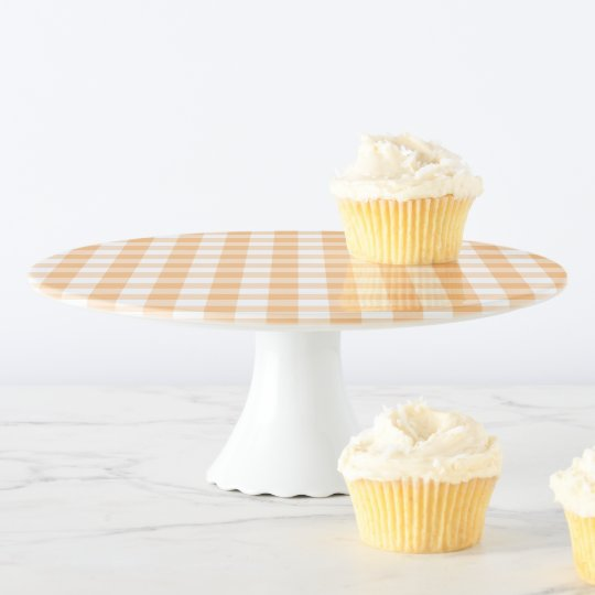 Design Your Own Wedding Cake: Create Your Own Country Wedding Gingham Cake Stand