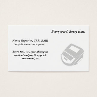 Create Your Own Court Reporter Business Cards