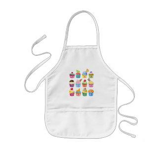 Create Your Own Cupcake Monogram Delicious Treats Kids' Apron