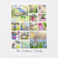 Create Your Own Custom 14 Family Photo Collage Swaddle Blanket
