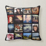 "Create your Own Custom 16 Instagram Photo Collage Throw Pillow<br><div class=""desc"">Upload 16 of your favorite or best instagram photos to make your very own personalized throw pillow! Four x Four grid tile layout for your selfies,  landscapes,  friendship photos etc. Plain black background front and back. Works best with all unframed,  or all similarly framed images.</div>"