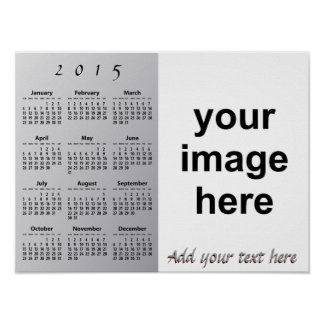 Create Your Own Custom 2015 Photo Wall Calendar Posters