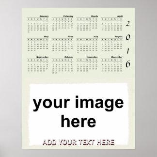 Create Your Own Custom 2016 Photo Wall Calendar Poster