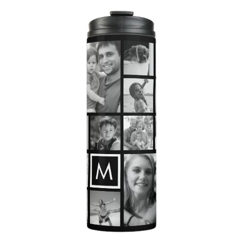 Create Your Own Custom 24 Photo Collage Monogram Thermal Tumbler