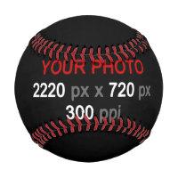 Create Your Own Custom 2 Photos Baseball