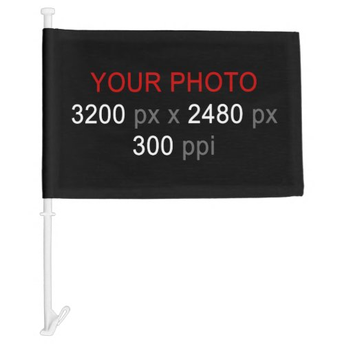 Create Your Own Custom 2 Photos Car Flag