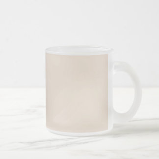 Create Your Own Custom Almond Beige Frosted Glass Coffee Mug