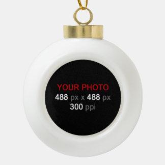Create Your Own Custom Ceramic Ball Christmas Ornament