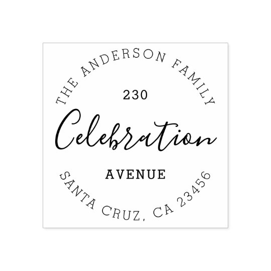 Design Your Own Rubber Stamp: Create Your Own Custom Chic Name & Return Address Rubber