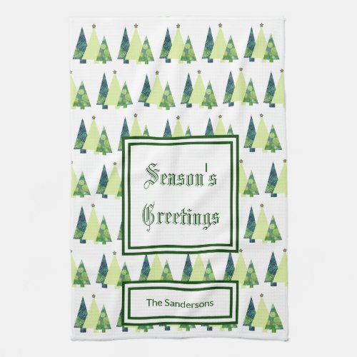Create Your Own Custom Christmas Trees Hand Towel