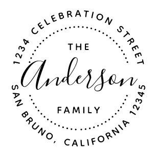 Create Your Own Custom Family Name Return Address Self Inking Stamp