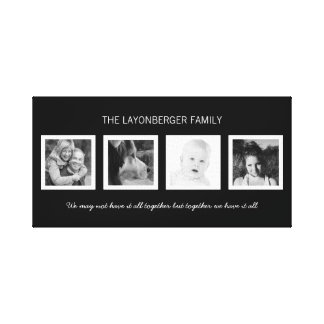 Create Your Own Custom Family Portrait Canvas Print