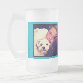 Create Your Own Custom Instagram Art Frosted Glass Beer Mug