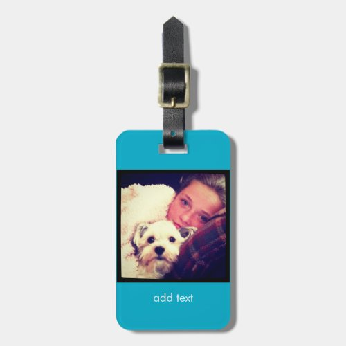Create Your Own Custom Instagram Art Luggage Tag