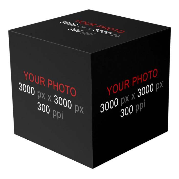 Create Your Own Custom Large 5 Photos Cube